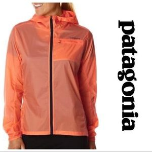 Orange/Mango Patagonia Women's Windbreaker Jacket